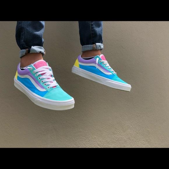 Vans Shoes | Pastel Vans | Poshmark